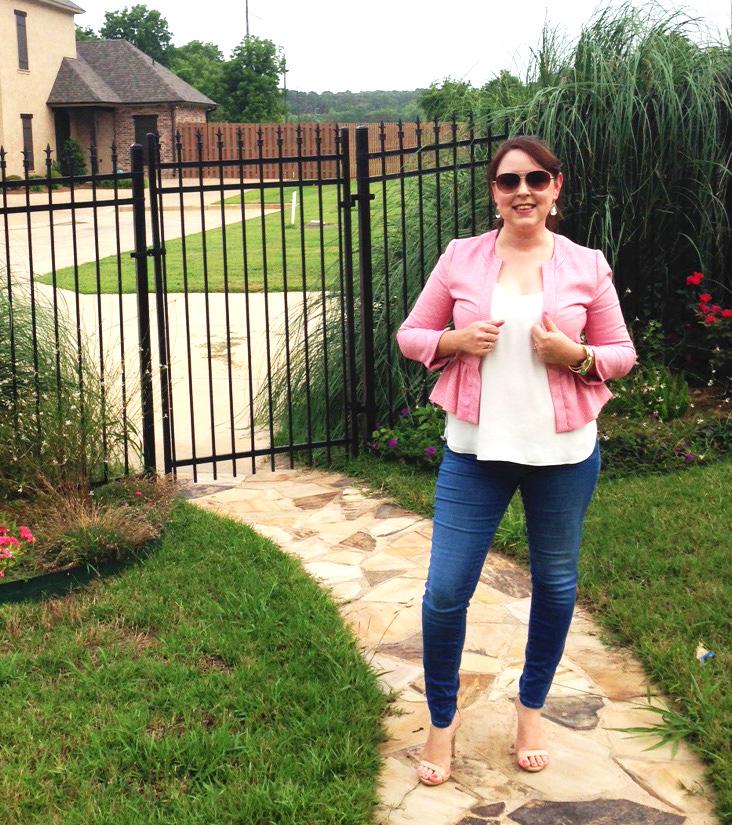 Pink Peplum Jacket 6c