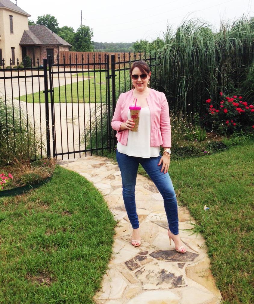 Pink Peplum Jacket 7