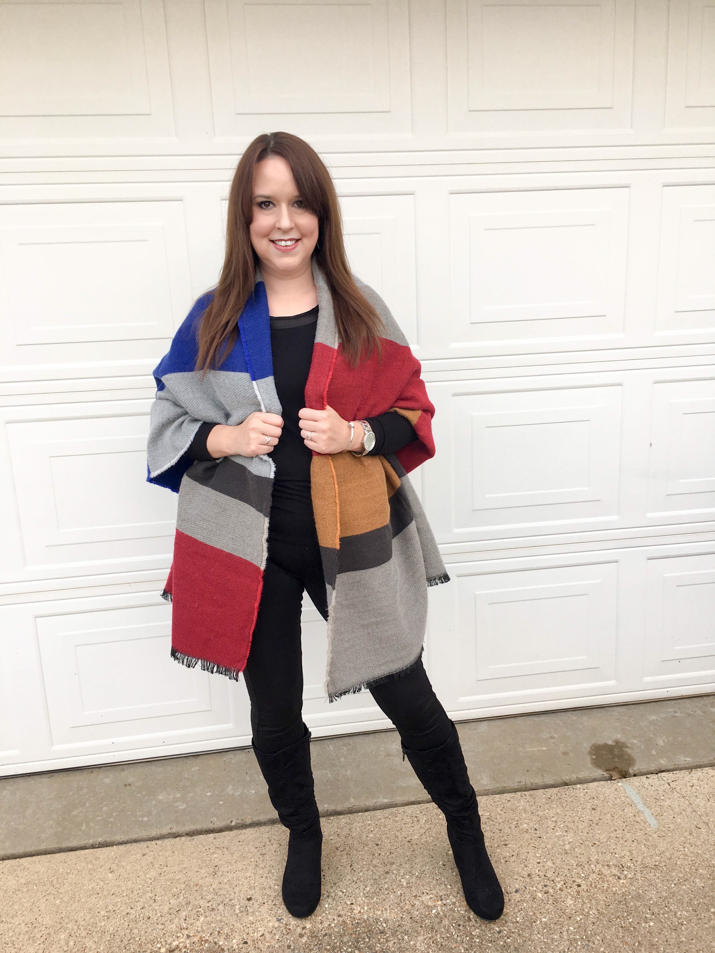 Colorblock Blanket Scarf 1