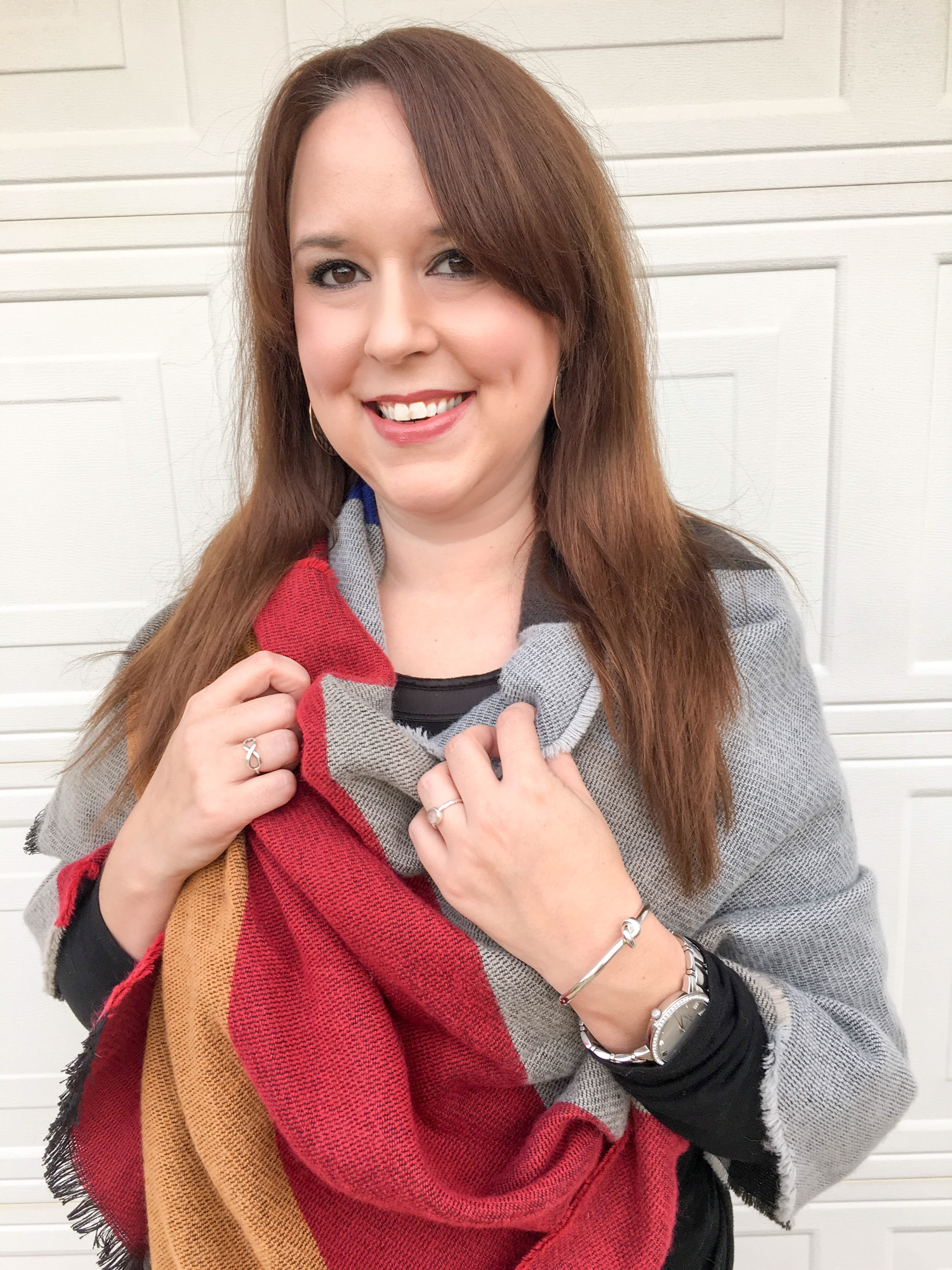 Colorblock Blanket Scarf 3