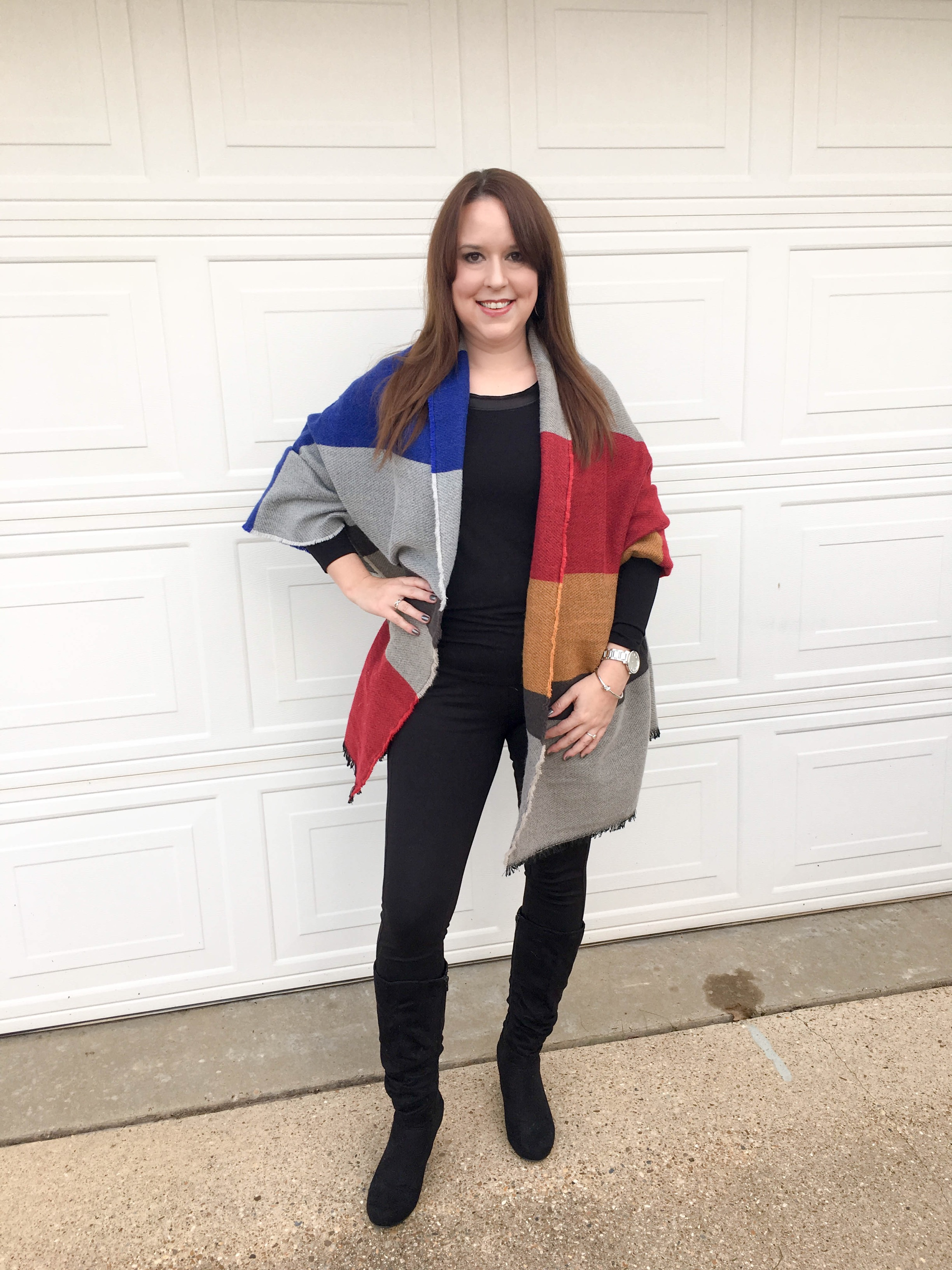 Colorblock Blanket Scarf 5