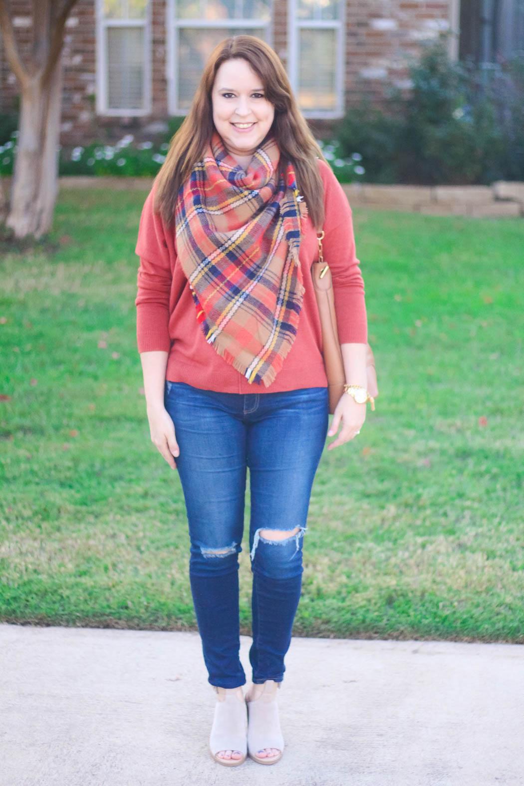 1-haute-hydrangea-leith-rust-sweater-bp-blanket-scarf-marc-fisher-booties