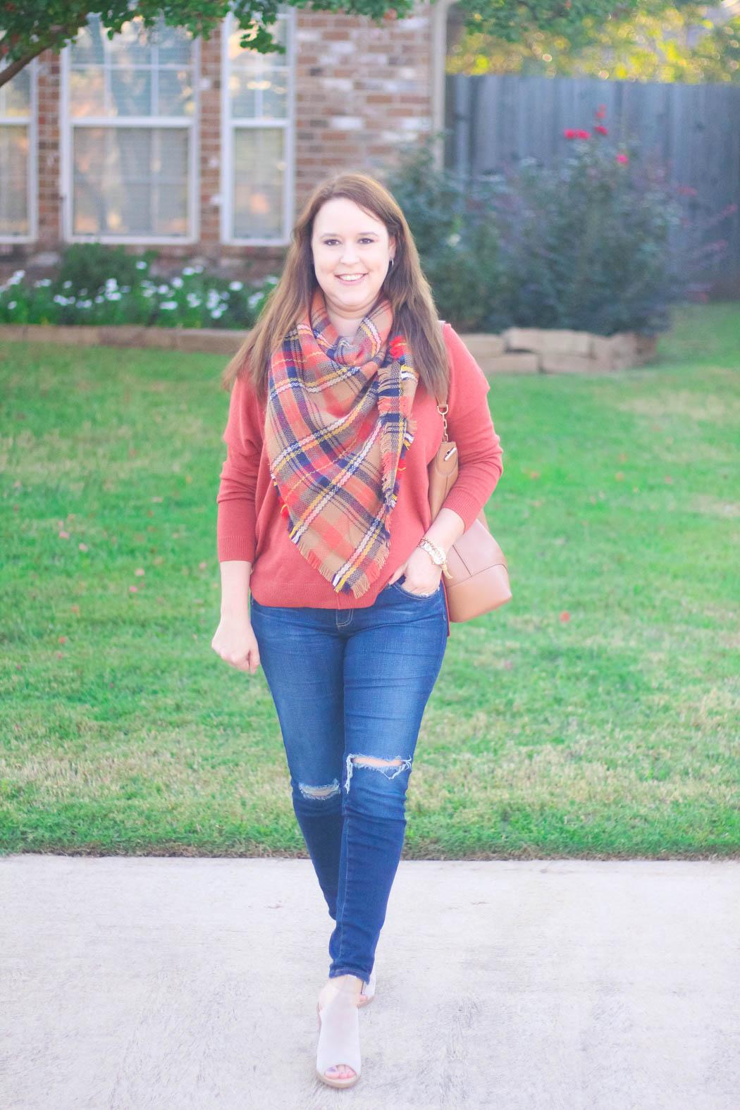 7-haute-hydrangea-leith-rust-sweater-bp-blanket-scarf-marc-fisher-booties