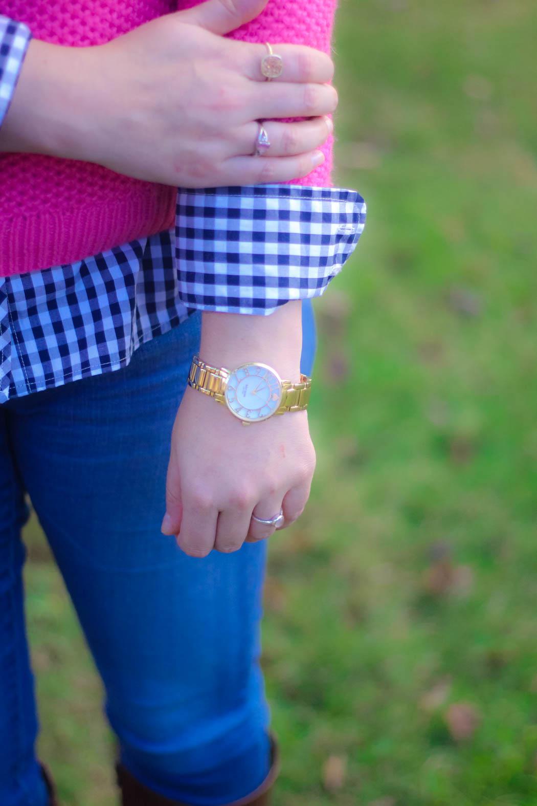 haute-hydrangea-pink-sweater-gingham-buttondown-knee-high-boots-6