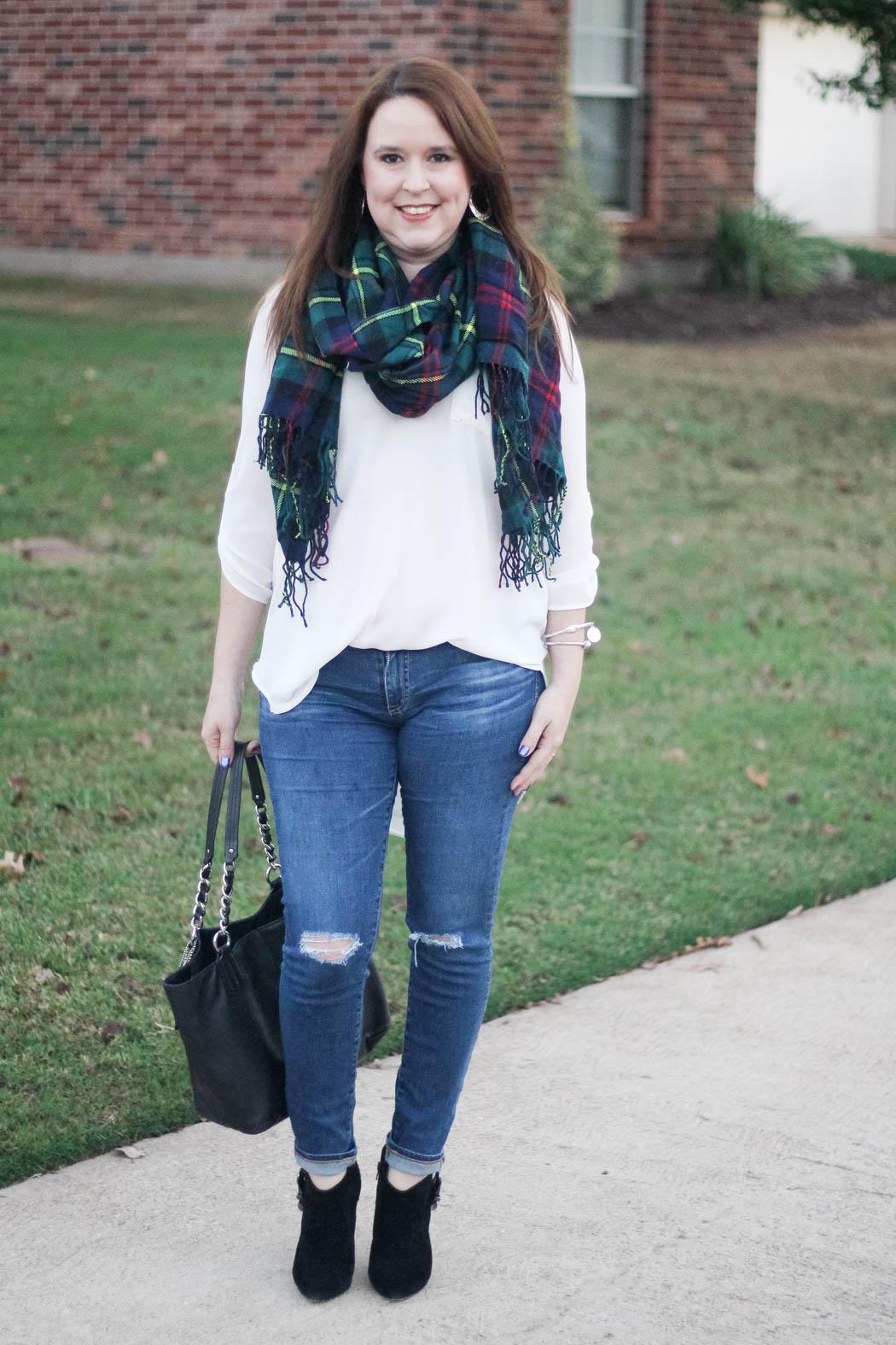 target-scarf-lush-tunic-ag-jeans-coach-bag-charles-david-booties-1