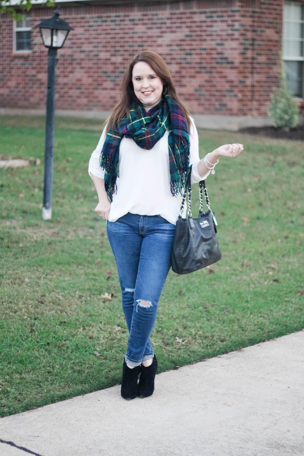 target-scarf-lush-tunic-ag-jeans-coach-bag-charles-david-booties-2