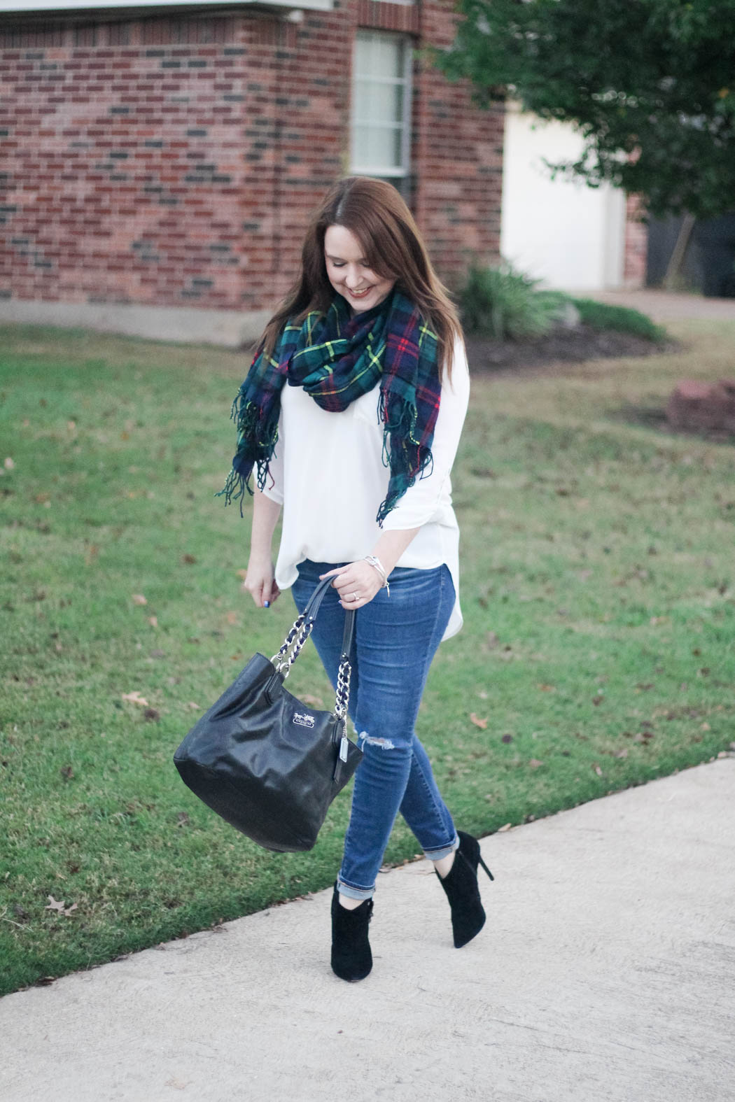 target-scarf-lush-tunic-ag-jeans-coach-bag-charles-david-booties-7