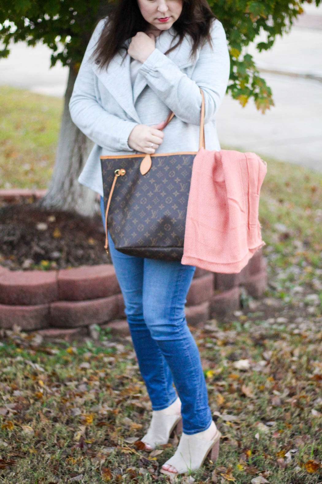 loft-jacket-and-sweater-ag-jeans-lv-neverfull-hinge-scarf-marc-fisher-booties-2