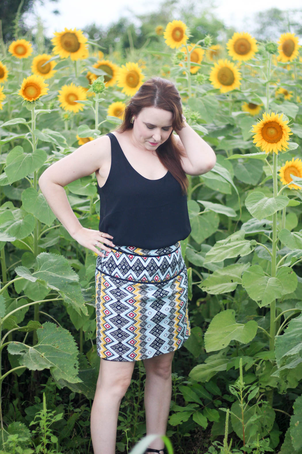 loft boho shift skirt
