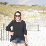 Ruffled Handkerchief Hem Top on the Beach!