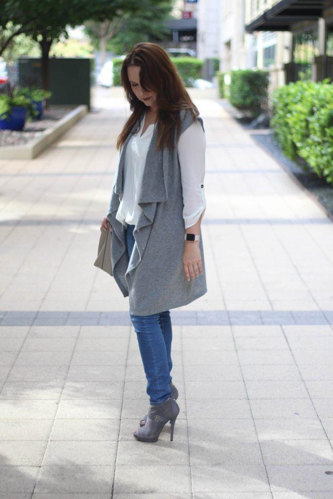 long vest look