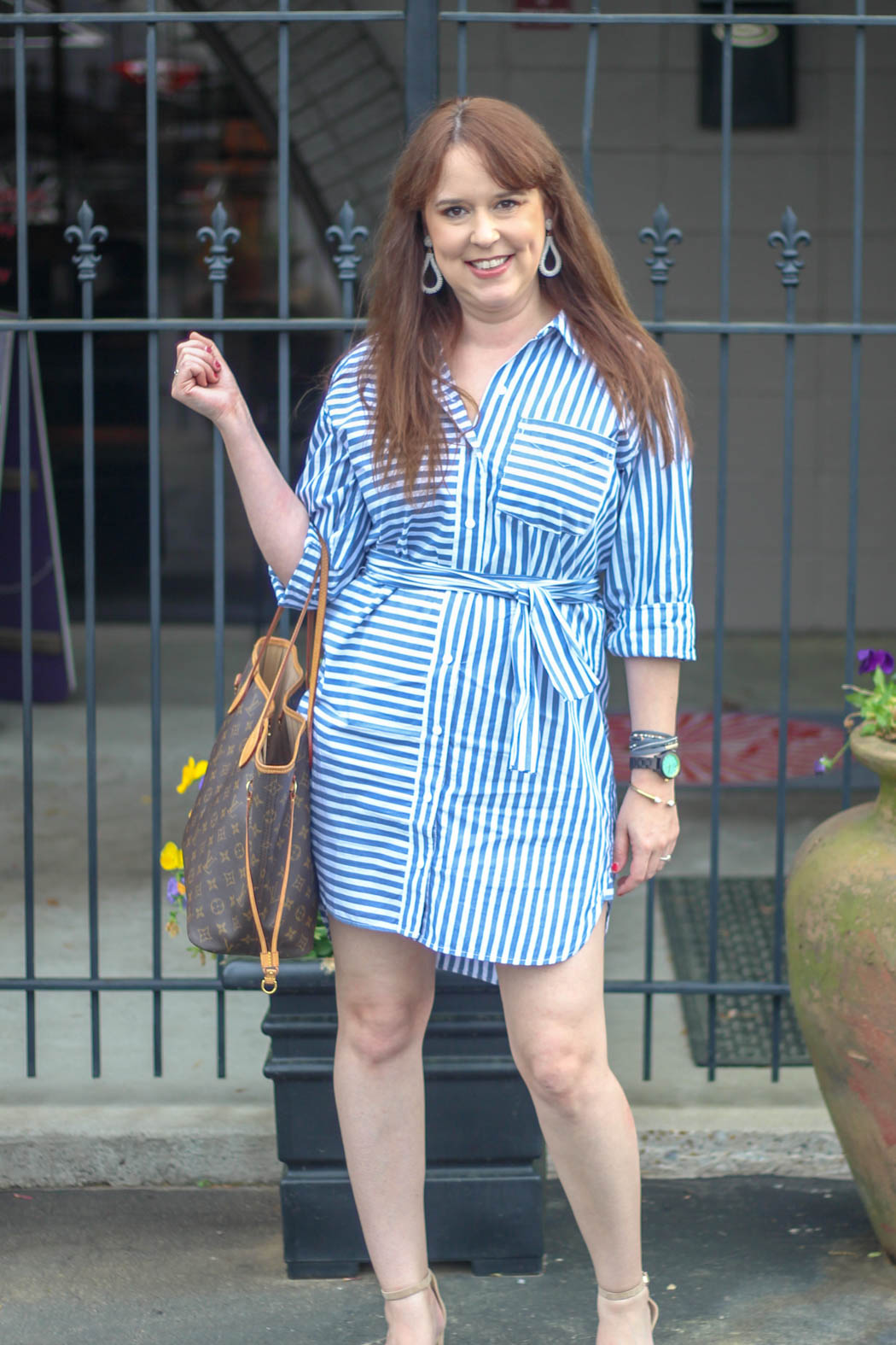 current/elliott the alda stripe shirtdress