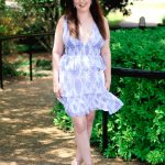 Holly Dress in Blue & White