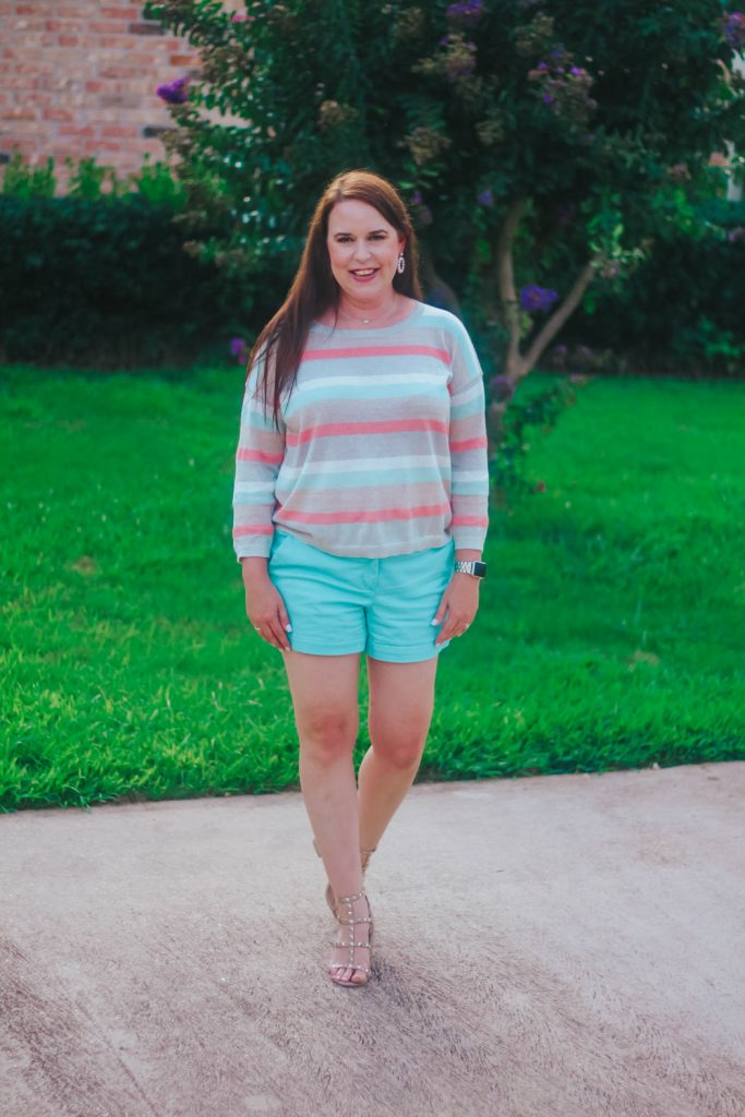 shimmer stripe sweater