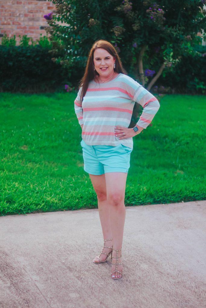 shimmer stripe sweater